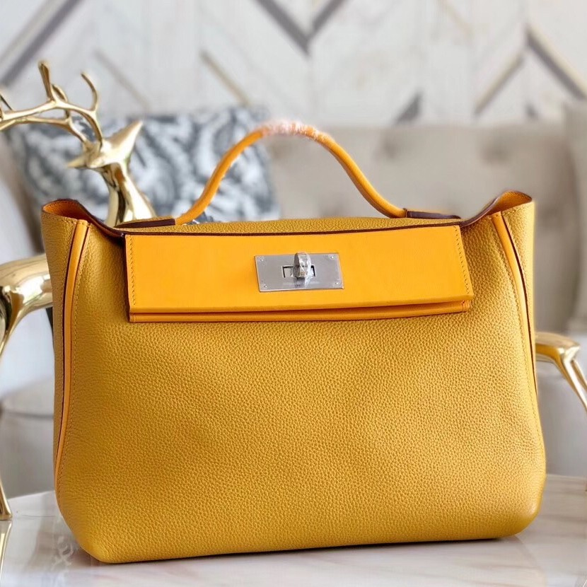 Copy Hermes 24/24 29 Bag In Curry Clemence Calfskin
