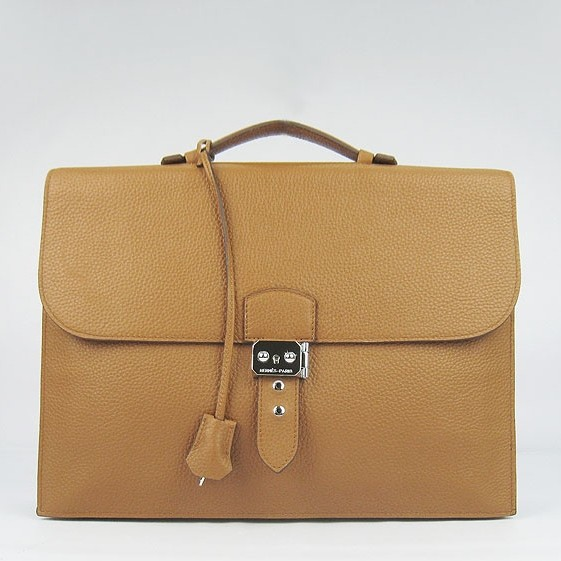 Knockoff Hermes Brown Sac A Depeches 38cm Briefcase Bag