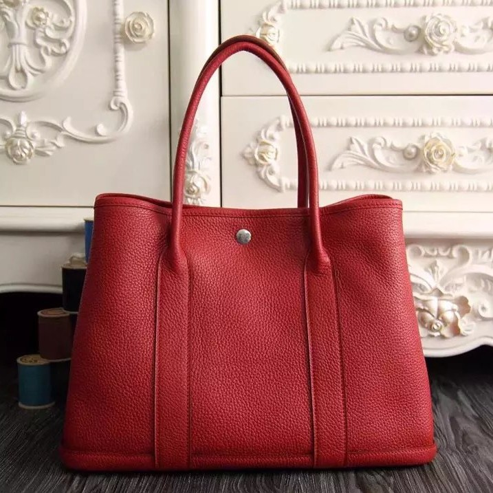 Replica 1:1 Hermes Medium Garden Party 36cm Tote In Red Leather