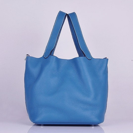 Copy Hermes Picotin Lock Bag In Blue Leather