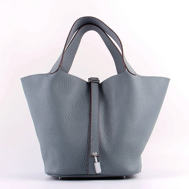 Wholesale Hermes Picotin Lock Bag In Blue Lin Leather