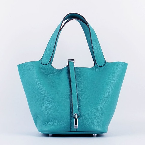 Hermes Picotin Lock Bag In Turquoise Leather Replica