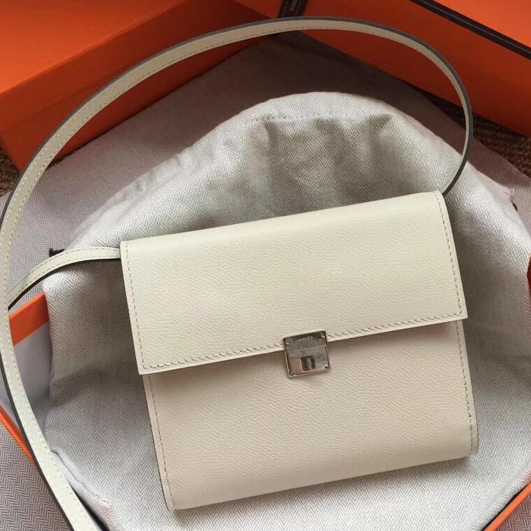 Top Quality Hermes White Clic 16 Wallet With Strap
