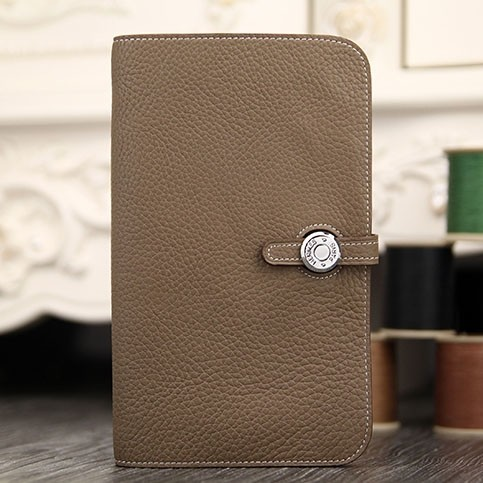 Hermes Dogon Combine Wallet In Etoupe Leather