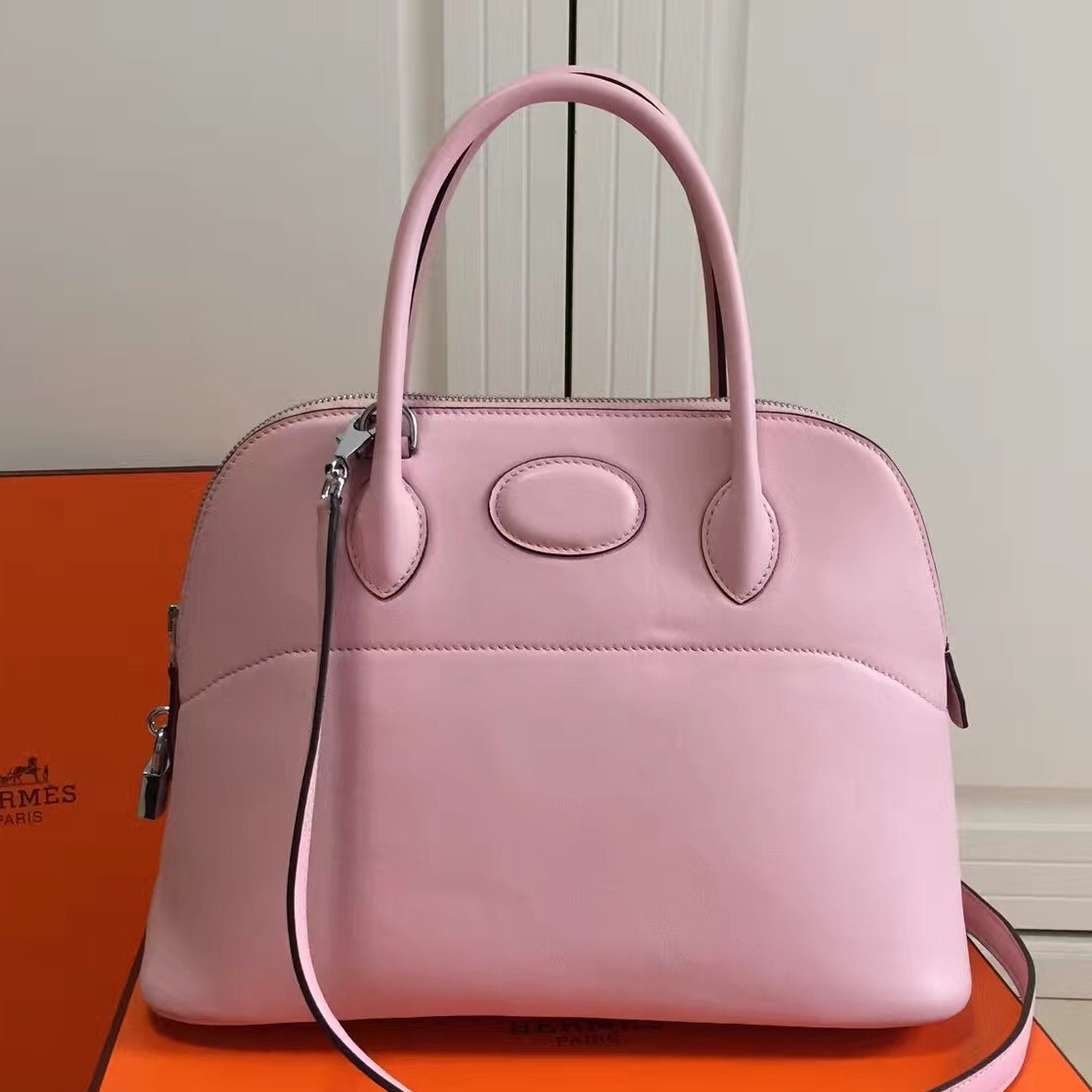 Replica Perfect Hermes Bolide 31cm Bag In Pink Swift Leather