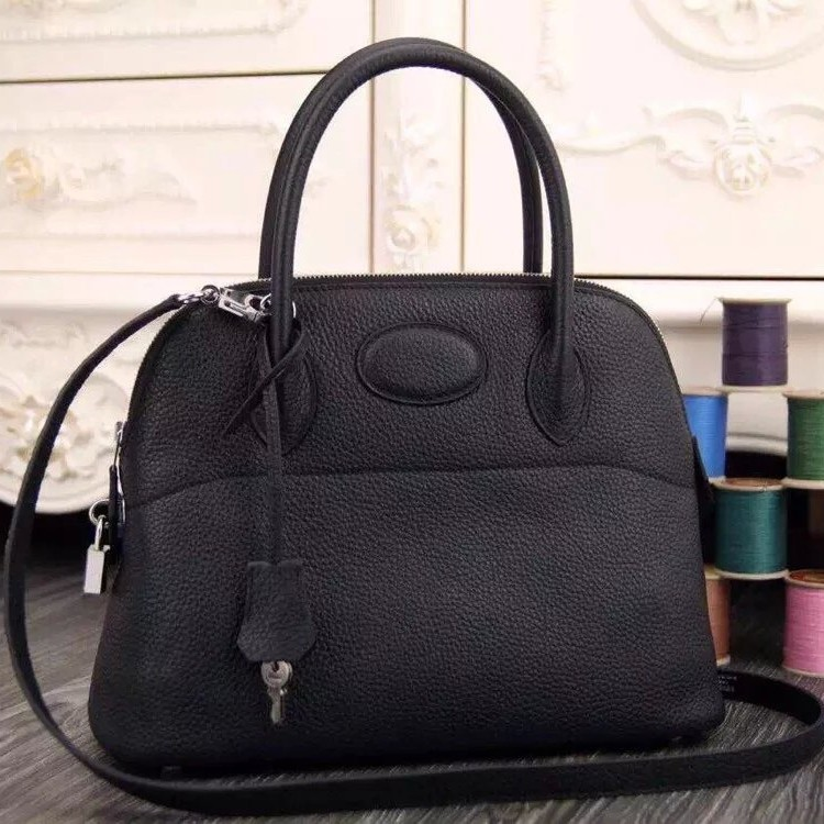Fake High Quality Hermes Bolide Tote Bag In Black Leather