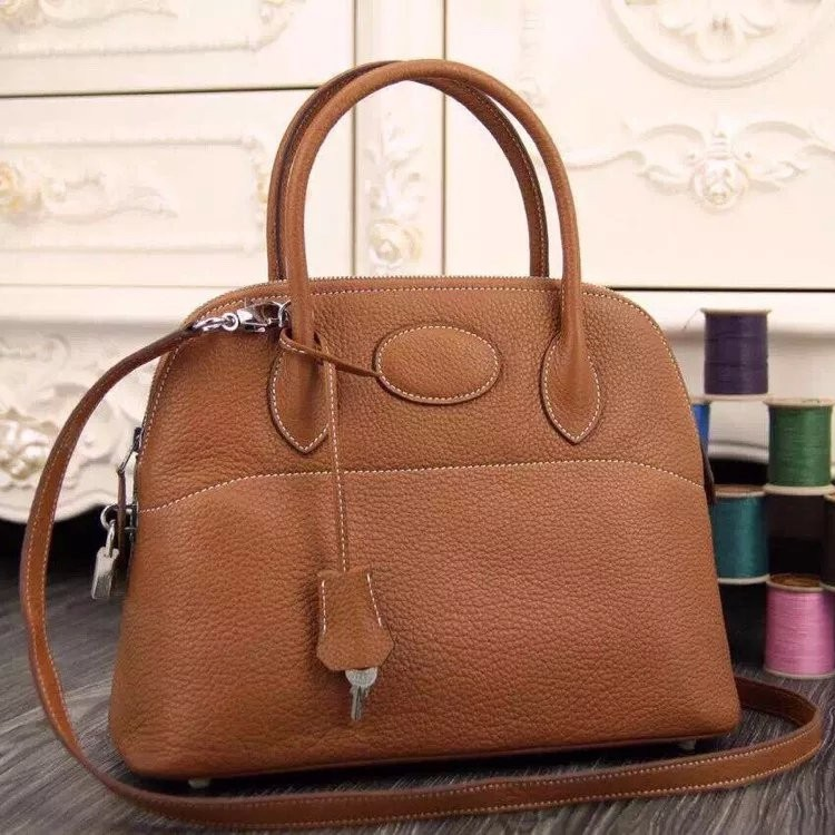 Hermes Bolide Tote Bag In Brown Leather