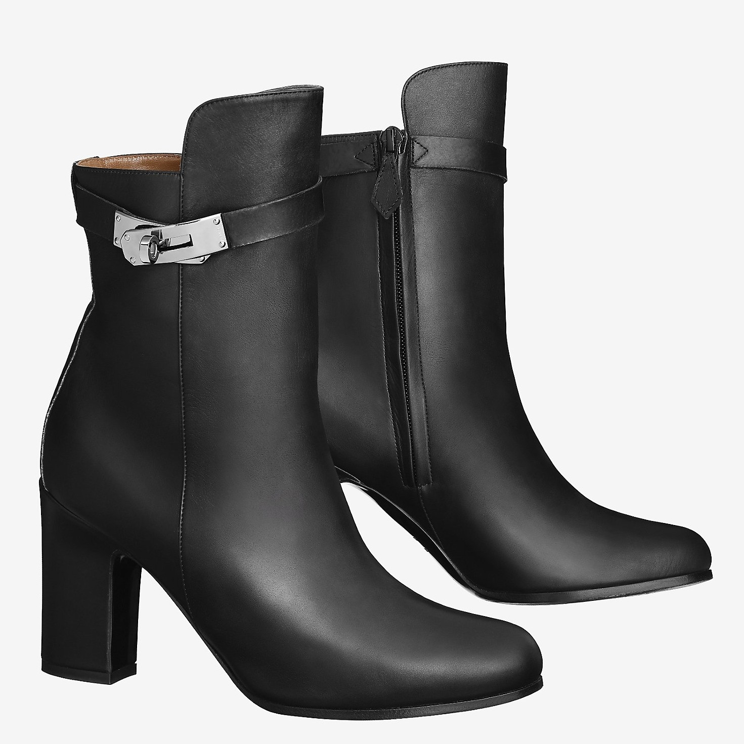 Fake AAA Hermes Black Joueuse Ankle Boots