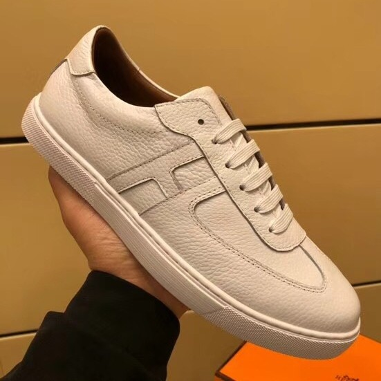 Imitation Hermes Olympic Sneakers In Black Leather