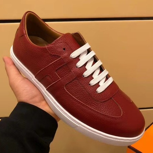 Cheap Hermes Olympic Sneakers In Red Leather